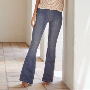 Free People - penny pull on flare jeans